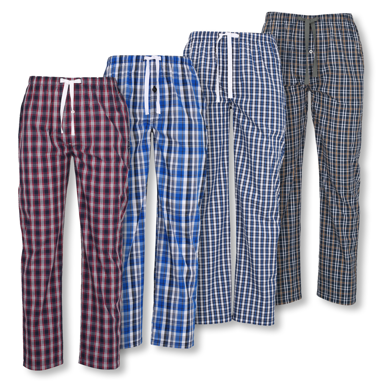 Tom Tailor Herren Pyjamahose lang Homewear Schlafanzug Hose 70924 in blue / red / white check