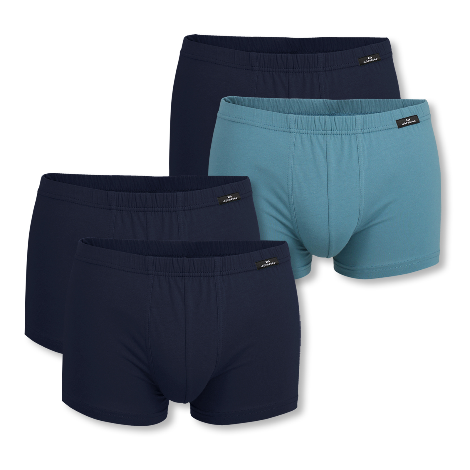 2er Pack Götzburg Boxer Boxershorts Unterhose Pants M L XL XXL 741308 in dark blue / dark blue