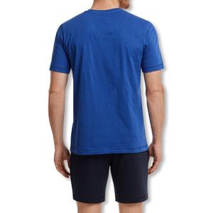 Detailbild Marc O'Polo Herren Shorty Pyjama Set Schlafanzug kurz 159777 M L XL XXL in atlantic blue / anthracite