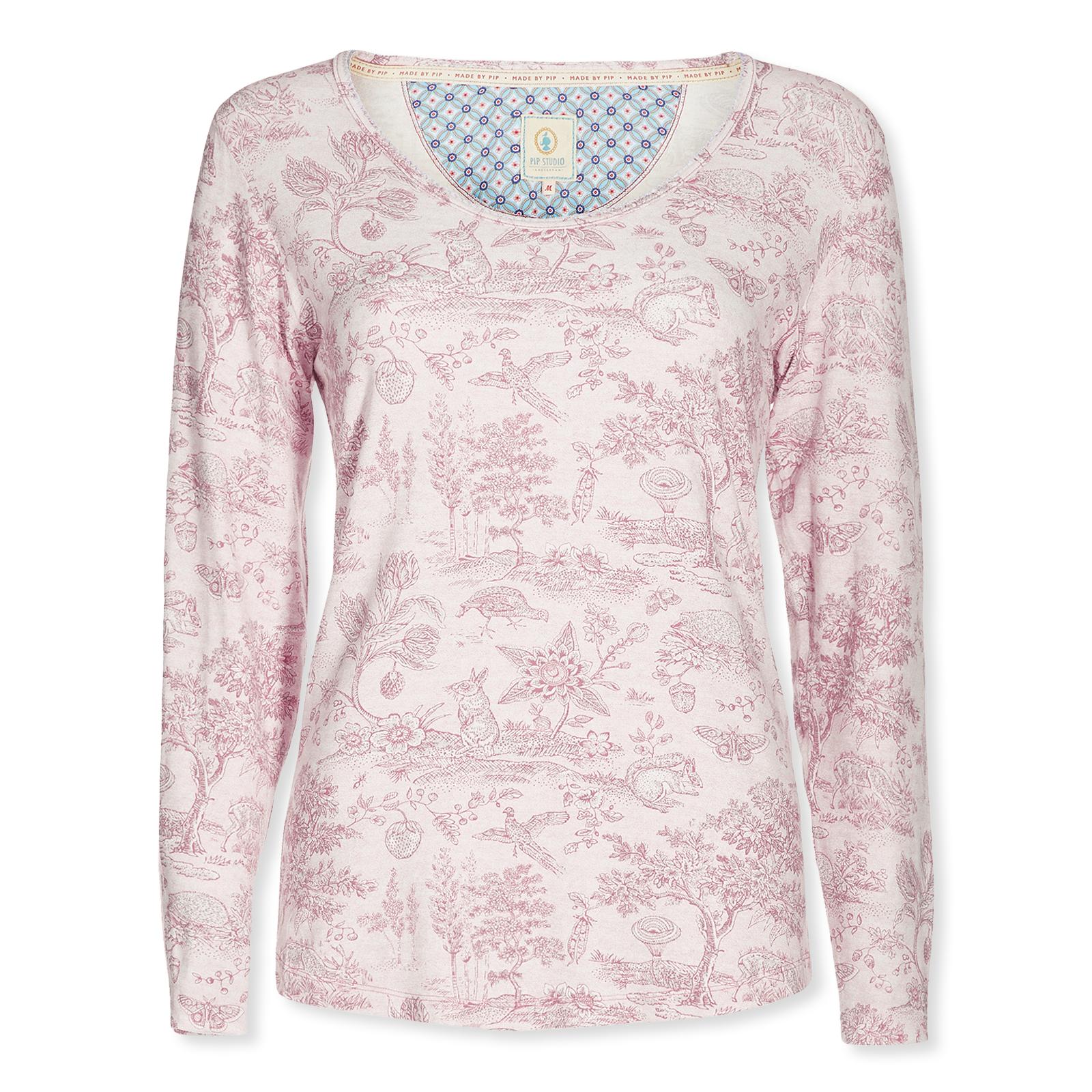 c546a8a2520d9b PiP Studio Damen Long Sleeve Langarmshirt Trixy Hide And Seek 260633 S M L  XL in pink ...