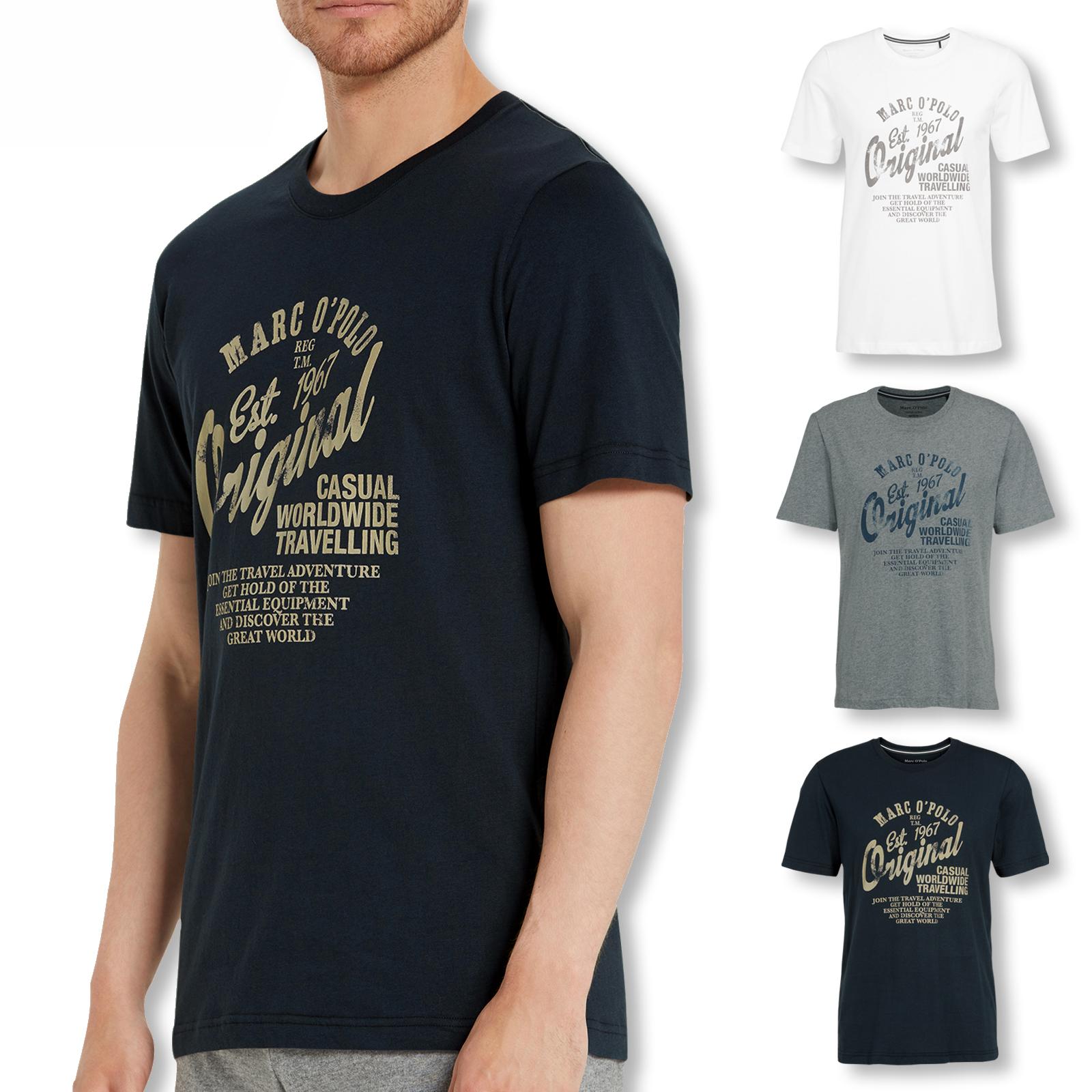 Marc O'Polo T-Shirt C-Neck Shirt kurzarm 154521 M L XL XXL in navy