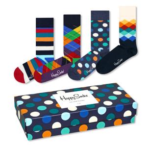 HAPPY SOCKS 4 Paar Socken Strümpfe Geschenkbox Mix