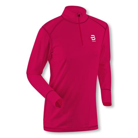 Björn Daehlie Damen Funktionsshirt Shirt Half Zip Training Wool 332132 S M L in bright rose