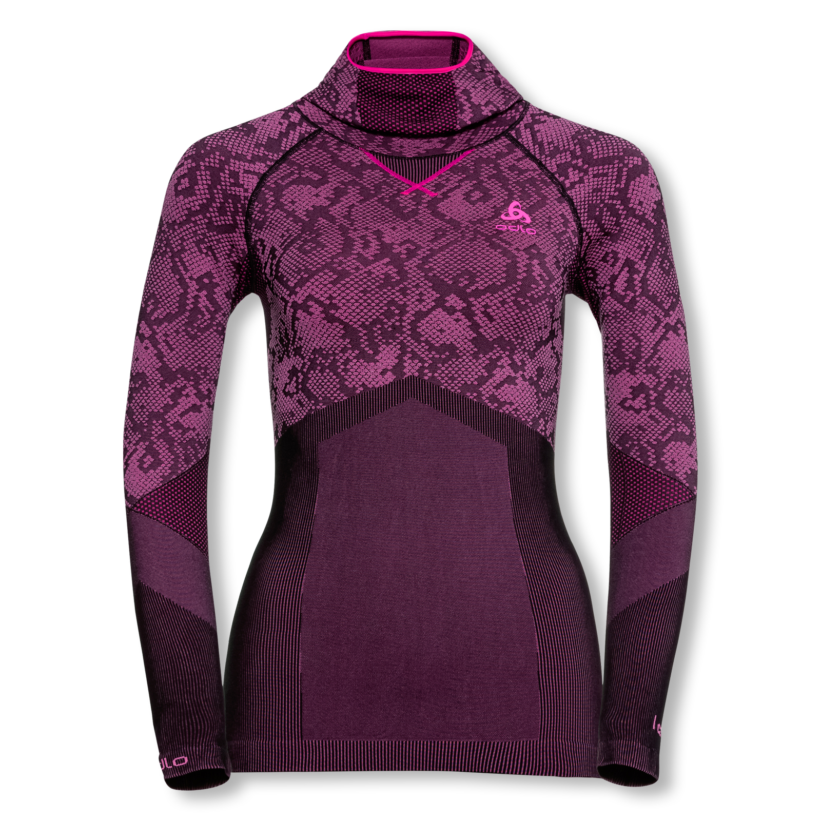 Odlo Damen Funktionsshirt langarm Skiunterwäsche Blackcomb EVOLUTION WARM 170991 S M L in black / pink go