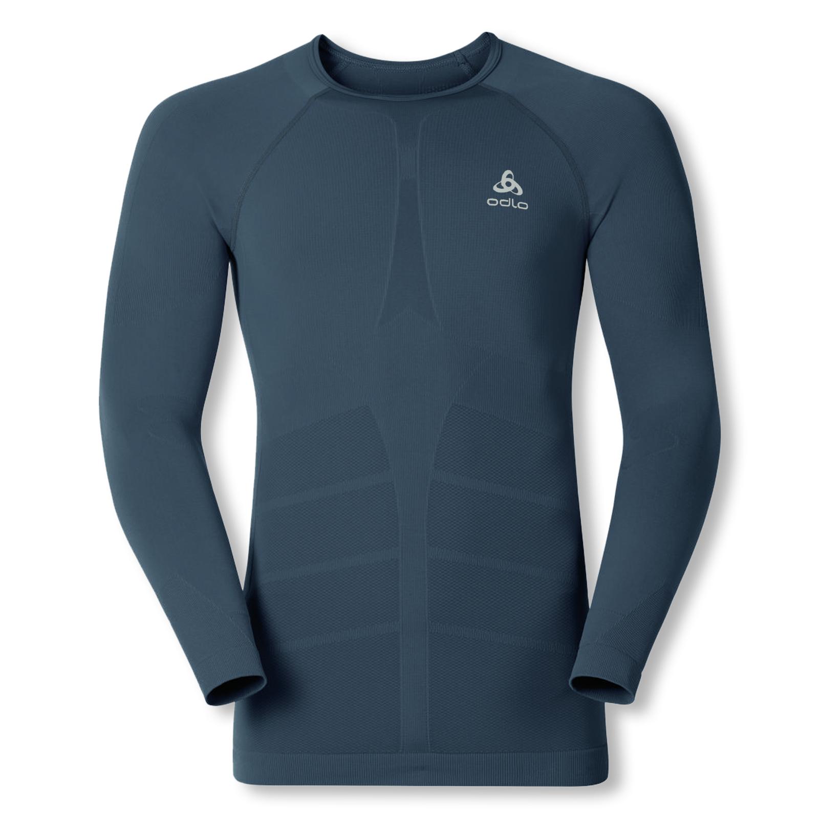 Odlo Herren Skiunterwäsche Funktionsshirt langarm WARM Shirt 192112 M L XL XXL in ombre blue