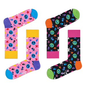 HAPPY SOCKS Socken Strümpfe Peace and Love - Farbwahl