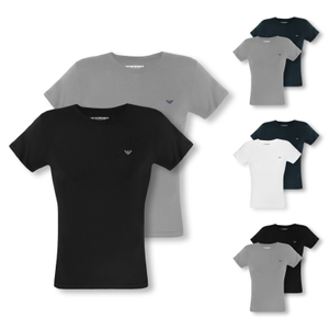 ARMANI 2er 4er Pack T-Shirts Shirts Crew-Neck Stretch Cotton - Farbwahl