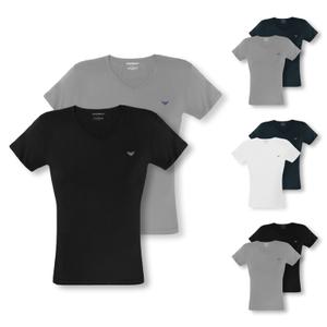 ARMANI 2er 4er Pack T-Shirts Shirts V-Neck Stretch Cotton - Farbwahl
