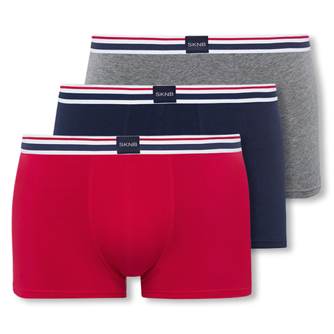 3er 6er Pack Skiny SKNB Herren Boxershorts Multipack Selection 086216 in casual selection