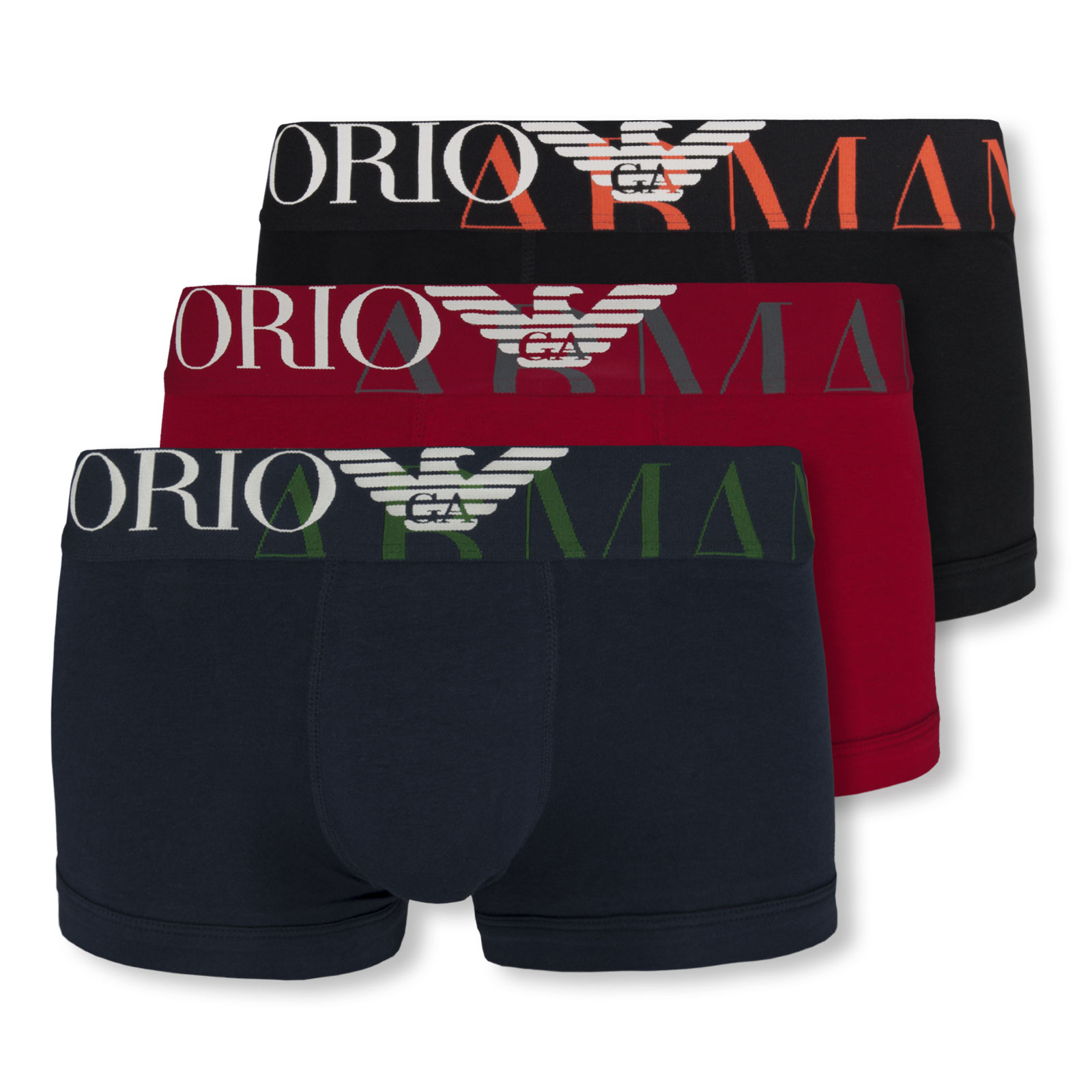EMPORIO ARMANI Herren Boxershorts Stretch Cotton Trunk Megalogo in ruby vergrößern