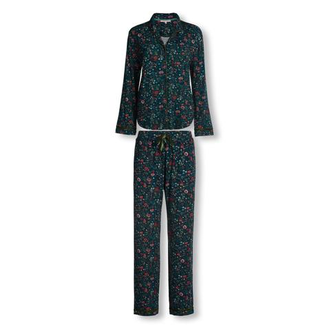Pip Studio Pyjama Pia Oh My mit Knopfleiste S M L XL in blau