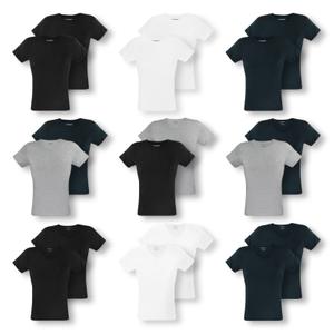 ARMANI 2er Pack T-Shirts kurzarm C-Neck V-Neck