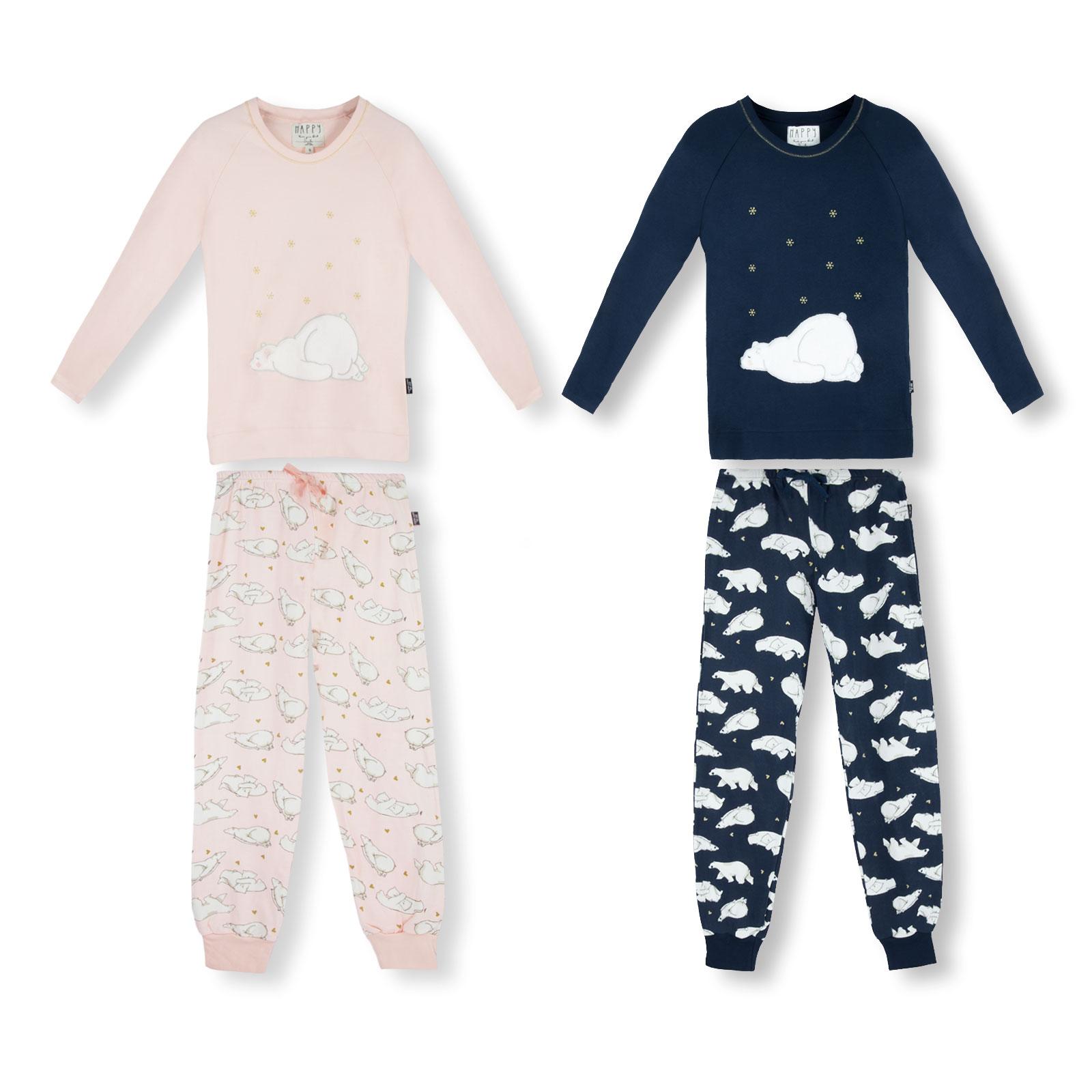 HAPPY PEOPLE Damen Pyjama Set Schlafanzug langarm Eisberg S M L XL
