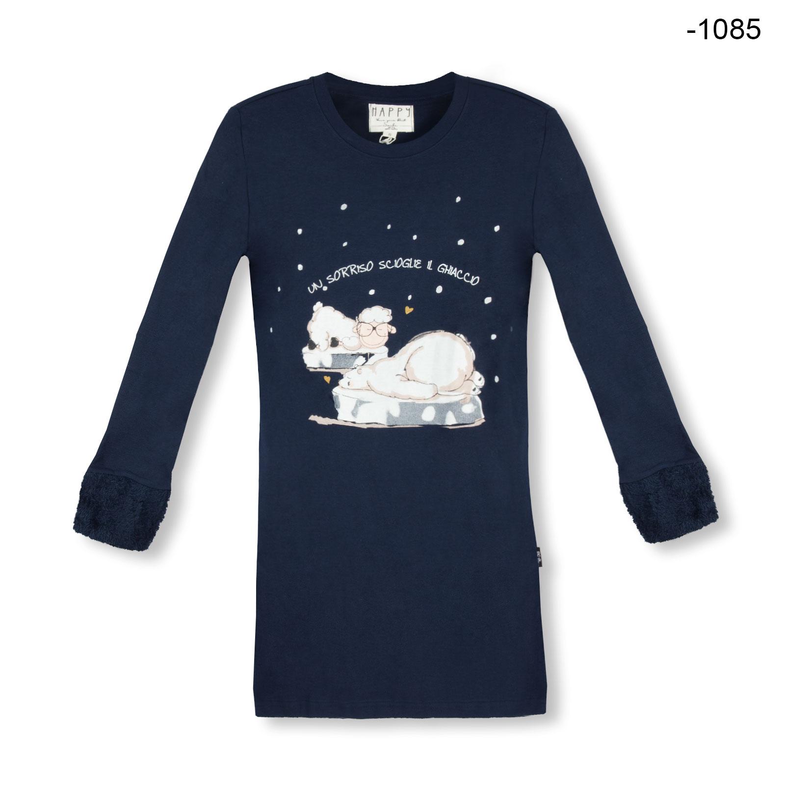 nachthemd langarm eisberg farbwahl damen homewear sleepwear sleepshirts nachthemden bonvenon. Black Bedroom Furniture Sets. Home Design Ideas