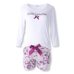LOUIS & LOUISA Pyjama Set Shorty Blütenzauber