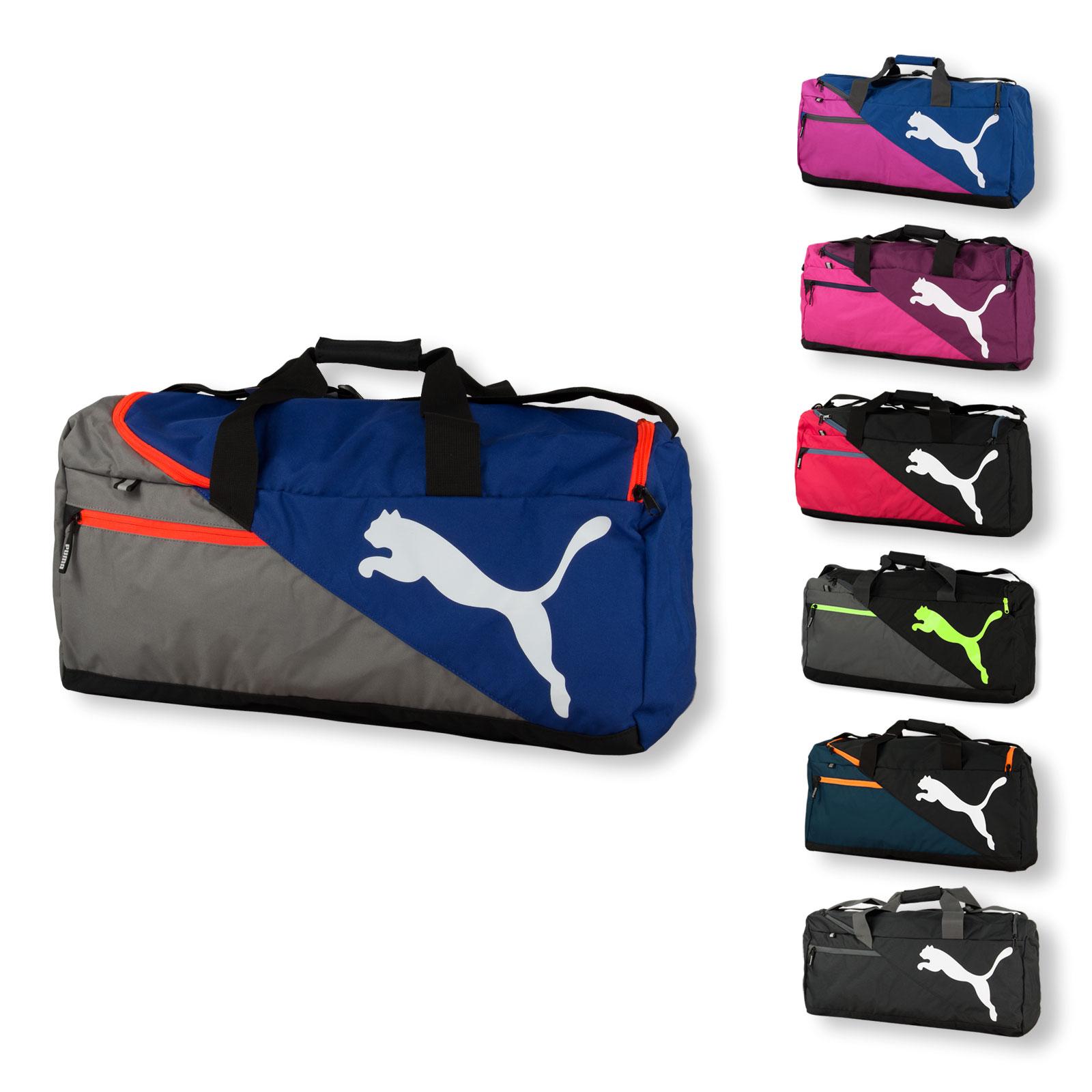73ab1e3a76272 PUMA Sporttasche Umhängetasche Reisetasche Fundamentals Sports Bag M 073395  in black ...