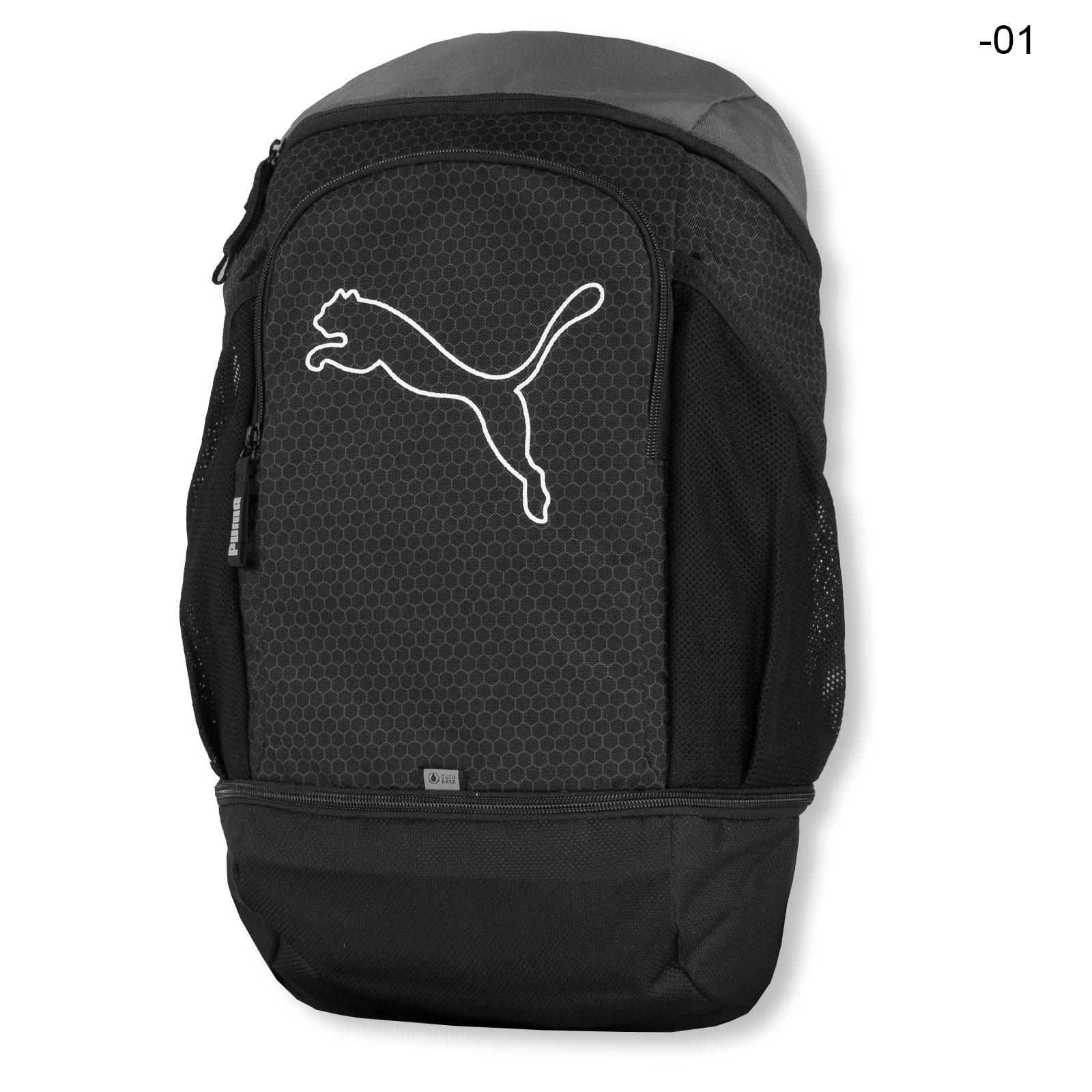 16fc06d63ce37 PUMA Echo Backpack Rucksack für Sport Freizeit Reise Schule Outdoor 074396  in peacoat   vibrant orange ...
