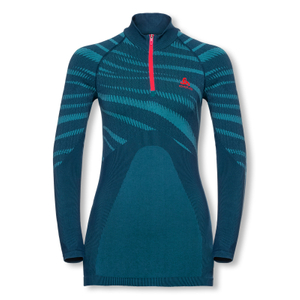 ODLO Funktionsshirt Langarmshirt Half Zip Performance Blackcomb