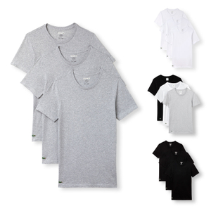 LACOSTE 3er Pack T-Shirts Business Shirts Crew-Neck Essentials - Farbwahl