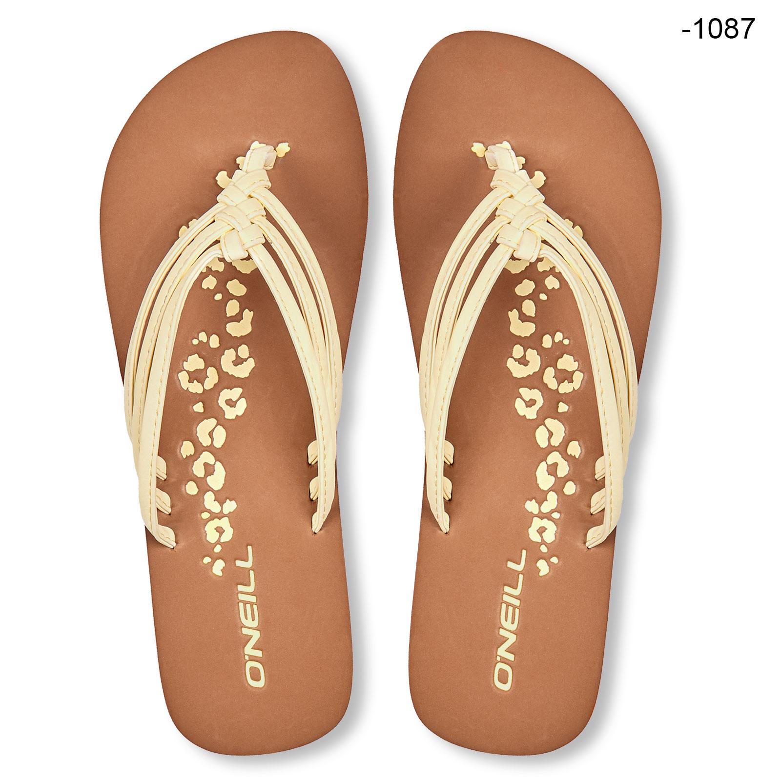 O/'Neill Damen Zehentrenner Standschuhe Badeschuhe Woven Strap Sandalen Farbwahl
