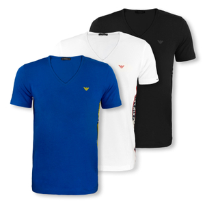 ARMANI T-Shirts V-Neck Beachwear - Farbwahl