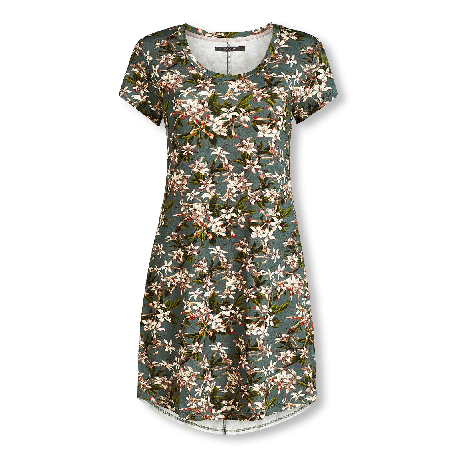 ESSENZA Damen Nachthemd Sleepshirt kurzarm Isa Verano Nightdress Short Sleeve 401265-326 in dusty rose