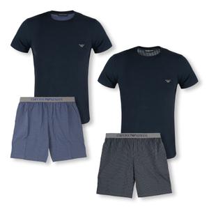 Detailbild EMPORIO ARMANI Herren Schlafanzug Shorty Loungewear Pyjamas 8A567-111360 in marin