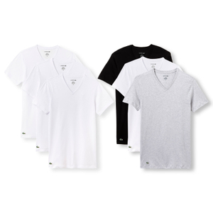 LACOSTE 3er Pack T-Shirts Business Shirts V-Neck Essentials - Farbwahl