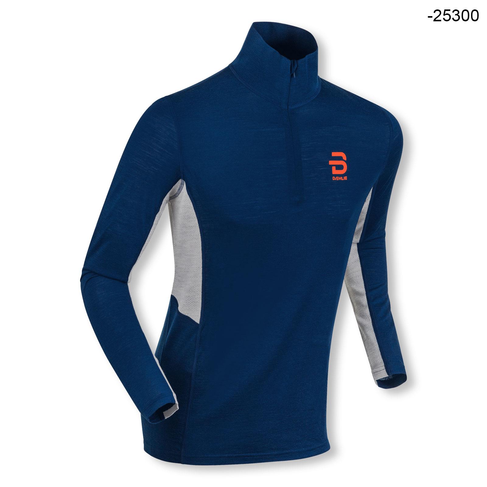 Björn Daehlie Damen Funktionsshirt Langarmshirt Half Zip Training Wool Langlauf