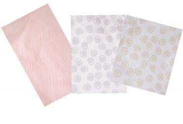 ARO Artländer Stillkissen-Bezug  in Schnecke beige oder grau oder rose Streifen – Bild 1
