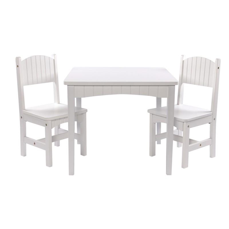 holz kinder sitzgruppe 2 st hle tisch dion in wei b ware m bel sitzen. Black Bedroom Furniture Sets. Home Design Ideas