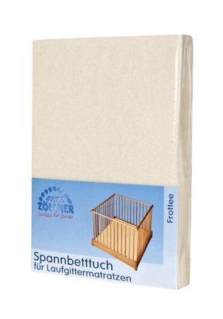 Zöllner Spannbetttuch für Laufgittermatratzen 75/100 cm und 100/100 cm in Ecru – Bild 1