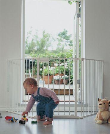 BabyDan Flex L Türschutzgitter Absperrgitter Treppengitter für breite Türen – Bild 2
