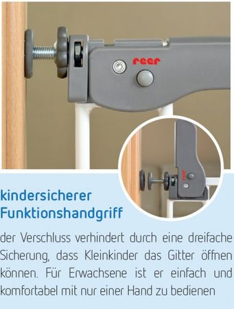 Türgitter Schutzgitter Basic  Active Lock Reer – Bild 4
