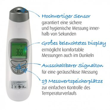 REER SoftTemp kontaktloses Fieberthermometer Infrarot-Thermometer – Bild 7