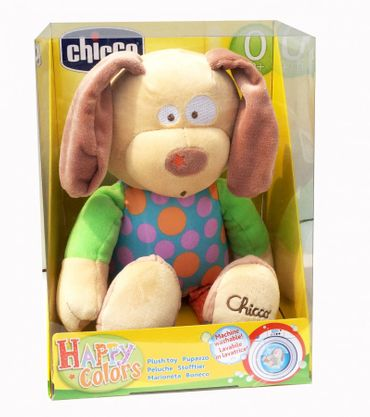 Chicco Happy Colours großes Kuscheltier Hund