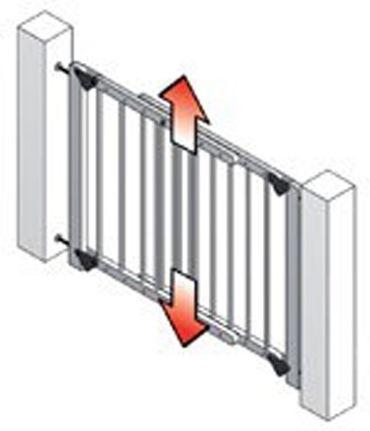 Tür- und Treppenschutzgitter Lupo Klemmen o. Schrauben – Bild 3