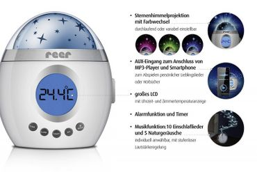 Reer Nachtlicht My Magic Starlight bunter Sternenhimmel + Musik B-Ware – Bild 10