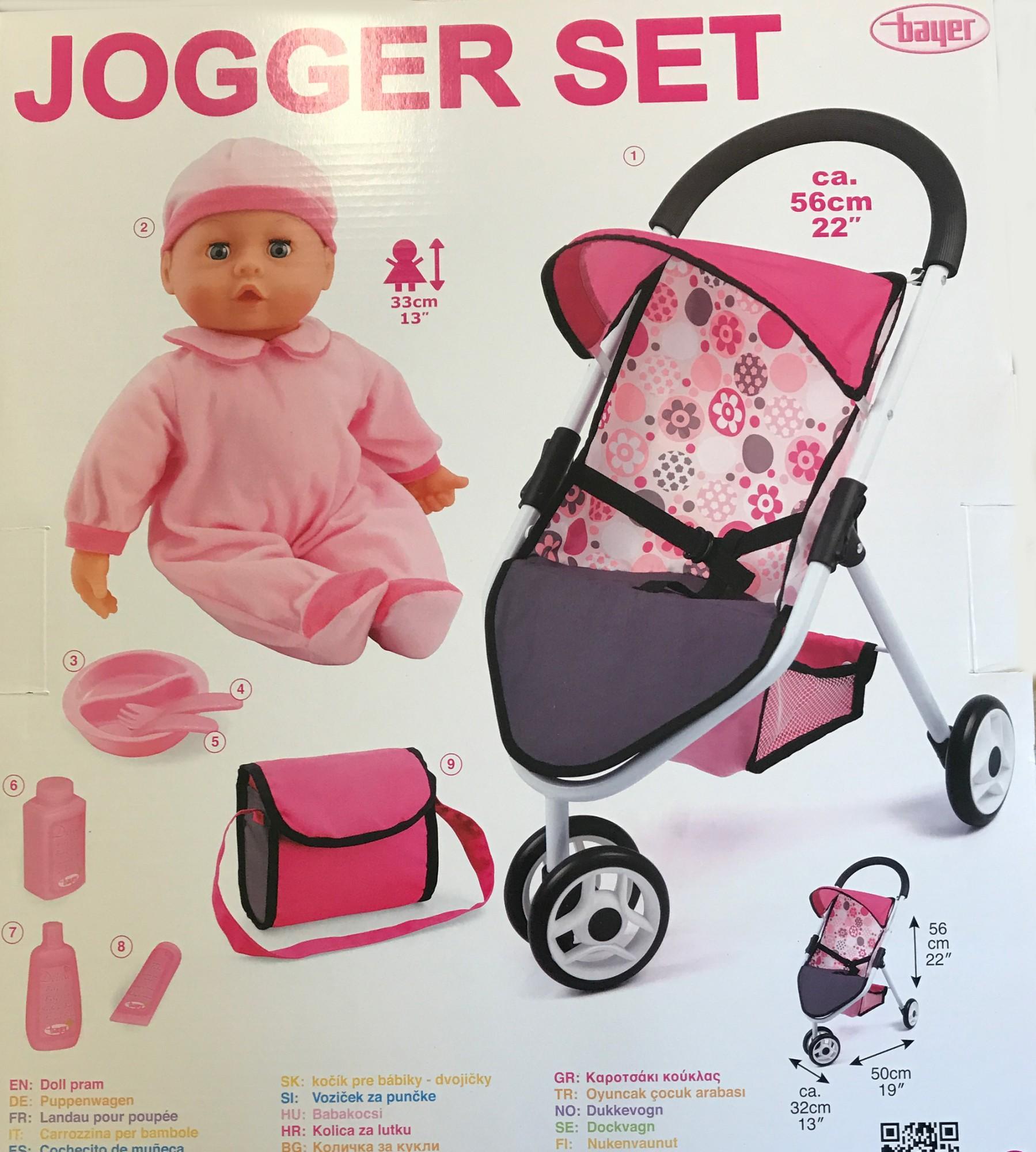 puppenwagen mit puppe bayer chic jogger set buggy mit puppe spielzeug puppenwagen. Black Bedroom Furniture Sets. Home Design Ideas