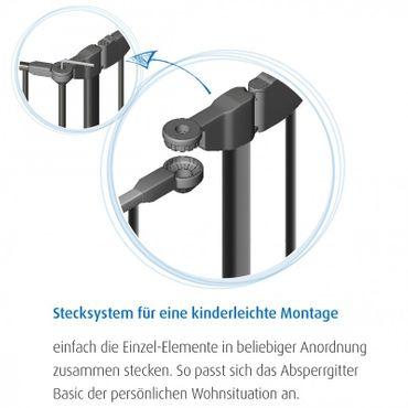Reer Absperrgitter 207 cm unbegrenzt erweiterbar Kamingitter Treppengitter B-Ware – Bild 6
