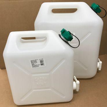 Wasserkanister 20 Liter mit Hahn Kanister Trinkwasserkanister Friedola Living – Bild 4