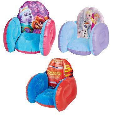 Kindersessel aufblasbar Sessel Paw Patrol , Cars oder Frozen Anna und Elsa – Bild 1