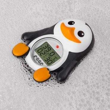 Reer MyHappyPingu 2in1 digitales Badethermometer Pinguin Thermometer – Bild 3