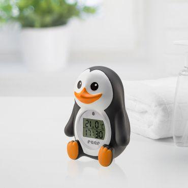 Reer MyHappyPingu 2in1 digitales Badethermometer Pinguin Thermometer – Bild 4
