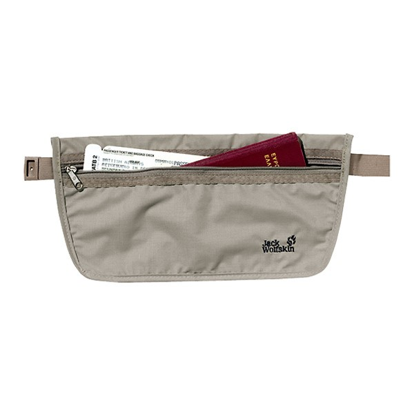 JACK WOLFSKIN Gürteltasche Document Belt silver mink