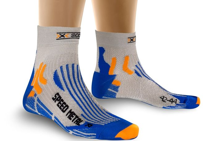 X-Socks Laufsocke Speed Metal silver blau