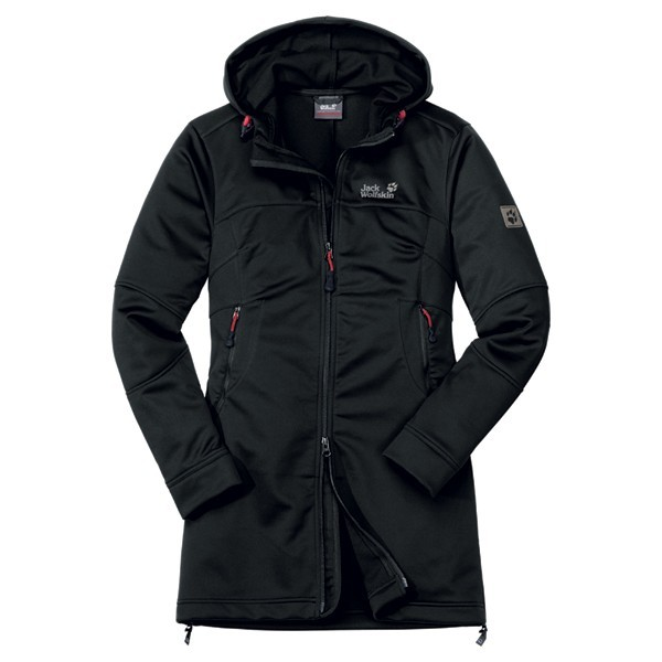 "Jack Wolfskin ""Sonic Youth Coat Women"" Softshelljacke black"