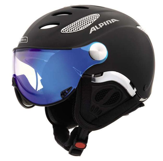 Alpina Skihelm Jump VARIOFLEX mirrow black matt