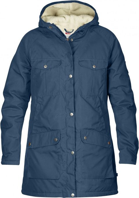 Fjäll Räven Damen Parka Greenland Winter Uncle Blue