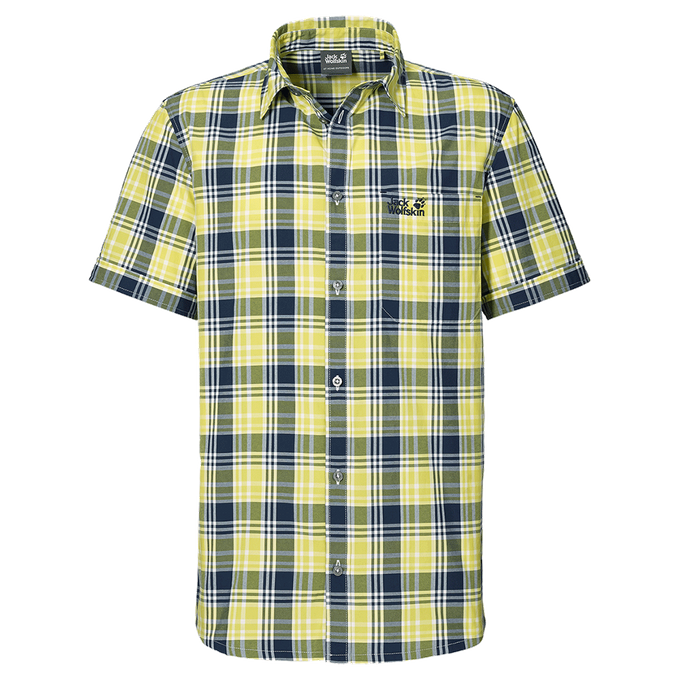 Jack Wolfskin SAINT ELMOS SHIRT M HEMD evening blue checks